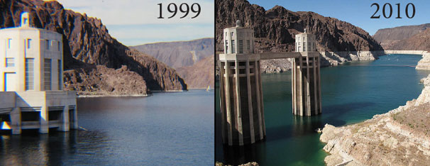 Decreasing Water Level in Lake Mead, CO