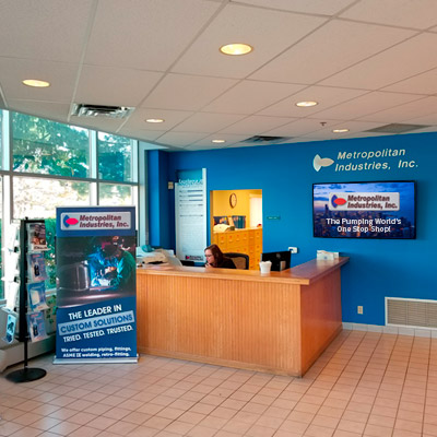 Metropolitan Industries Reception Area in our Company Headquarters in Romeoville, IL