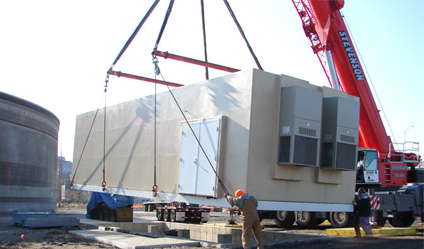 Installation of Prefabricated Housed Booster System