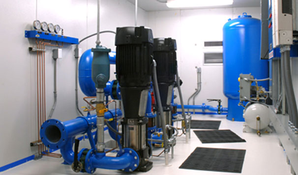 Interior Housed Water Reuse System for Landfill Irrigation