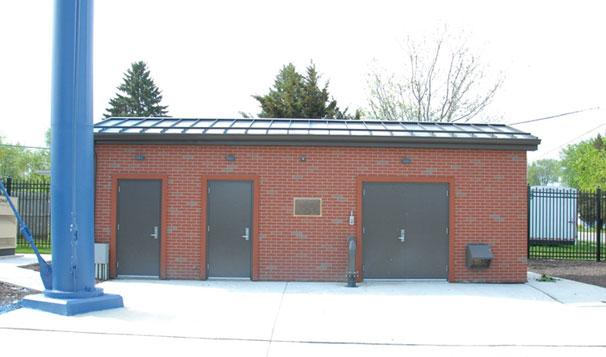Municipal Water Treatment Chlorine Booster House