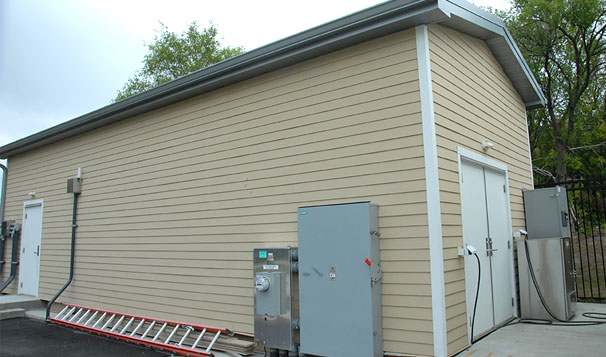Prefabricated House Booster Pump System Exterior