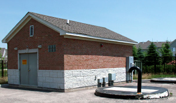 Exterior of Duplex Lift Station with Room for a 3rd Pump