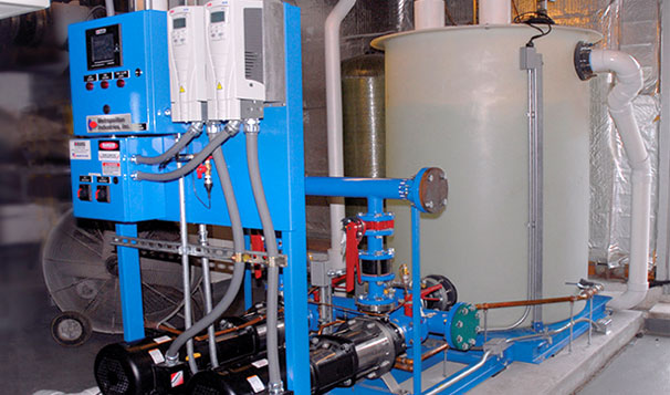 Combination Booster Pump and Break Tank for Potable Water Protection