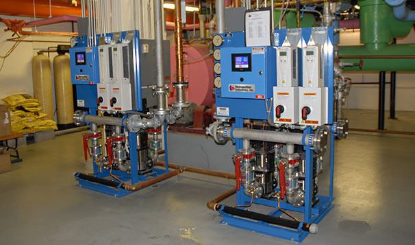 Hot Water Return Pump System for High Rise Application