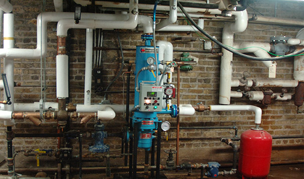 Steam to Water Hot Water Generation System