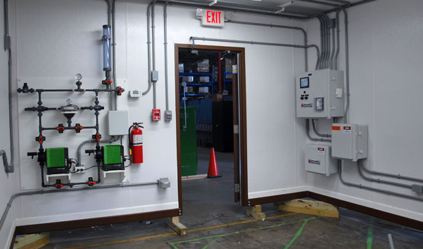 Interior of Water Treatment Housed System