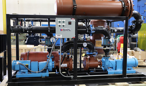 Steam to Water Domestic Hot Water Generation System