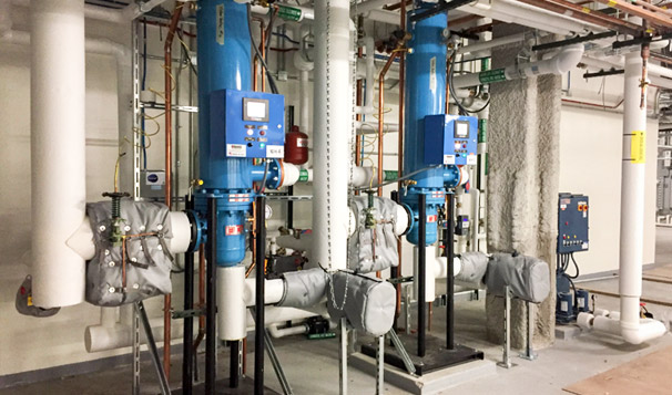 Steam Fired Domestic Hot Water Generation System
