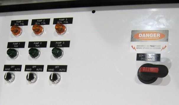 Custom Control Panel for a Triplex Control System