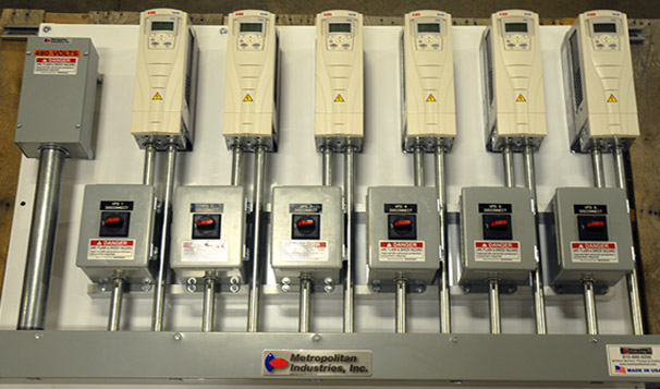 Pumps Control Panel with Variable Frequency Drives