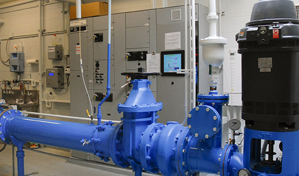 Motor Control Center and Well Piping for UV Treatment Unit