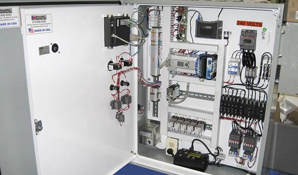 Pump Control System Inside Configuration within Traffic Box Enclosure