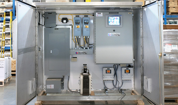Pump Controls with VFDs in Traffic Box Enclosure