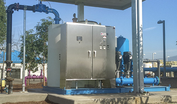 Potable Water Pump System Controls in Traffic Box