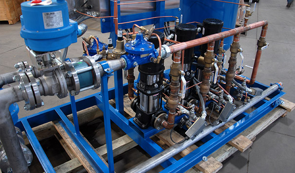 Air Gap Break Tank System Pump Configuration