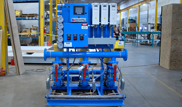 Water Pressure Booster Pump System in Production
