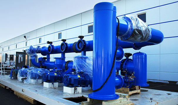Fabricated Piping for Pump System