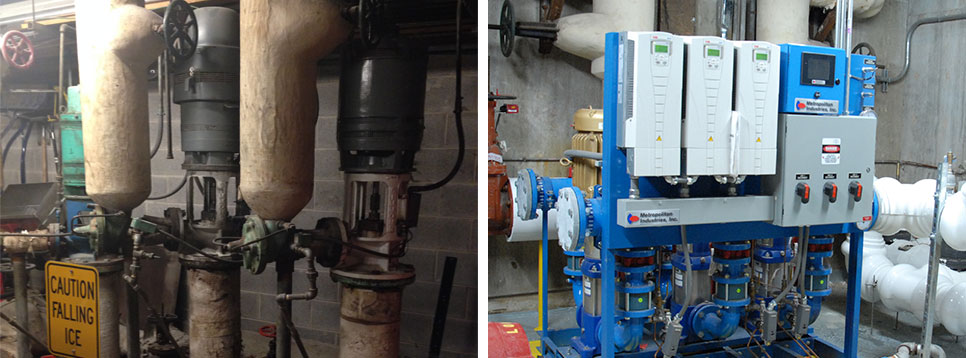 Retrofit Water Pressure Booster Pump System Package