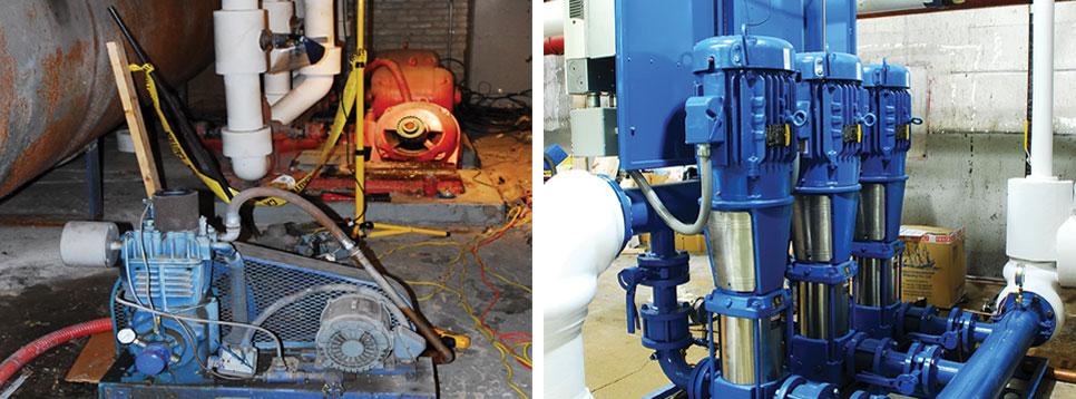 Water Pressure Booster System Retrofit