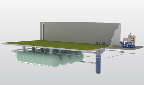 3D Rendering Water Harvesting System