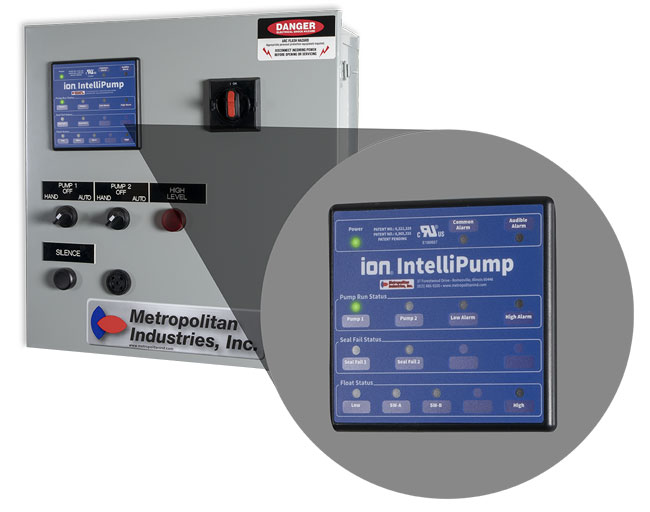 Pump Control Panel with Zoomed in Control LCD Display