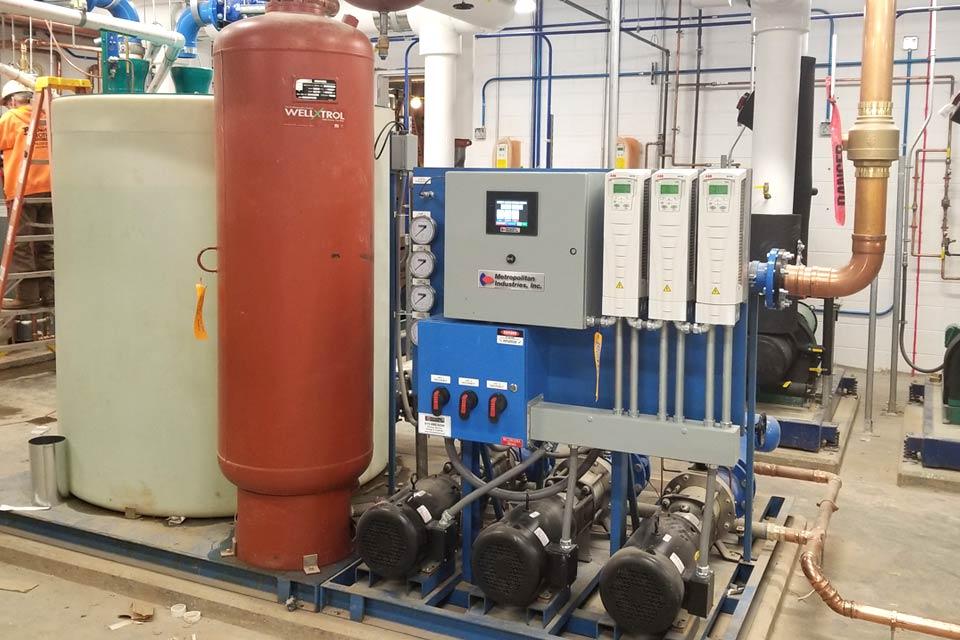 Water Recycling via Air Gap Break Tank System