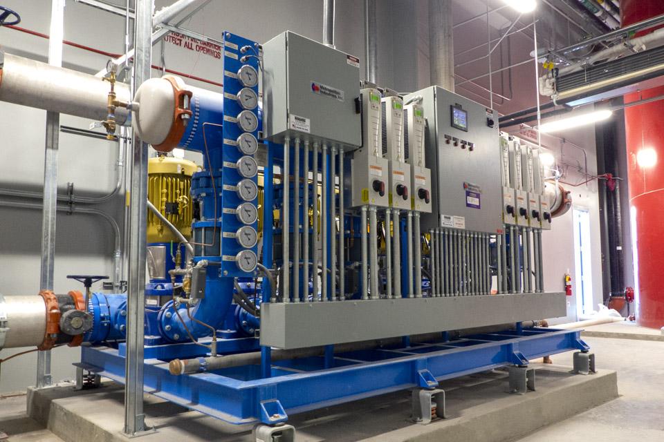 Custom Engineered Heptaplex Water Booster System, Las Vegas Convention Center