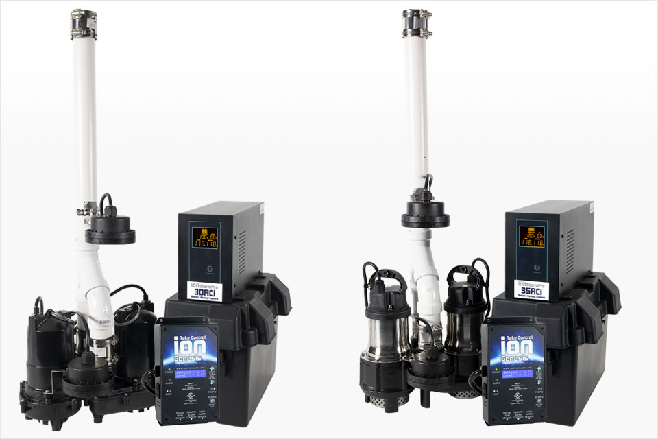 Power Pac Battery Sump Pump Systems by Ion Technologies