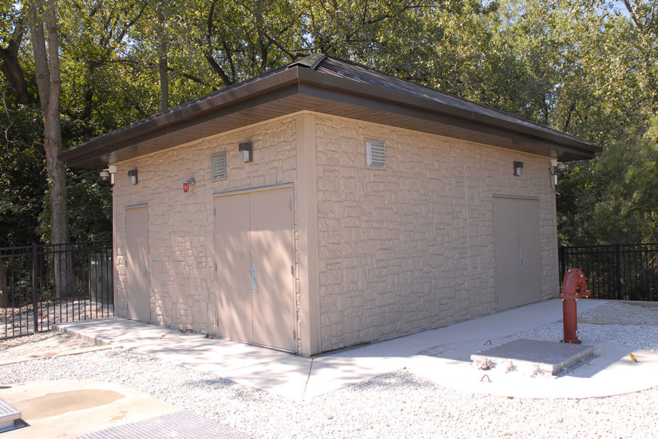 Above Ground Pump Stations in Prefabricated Houses