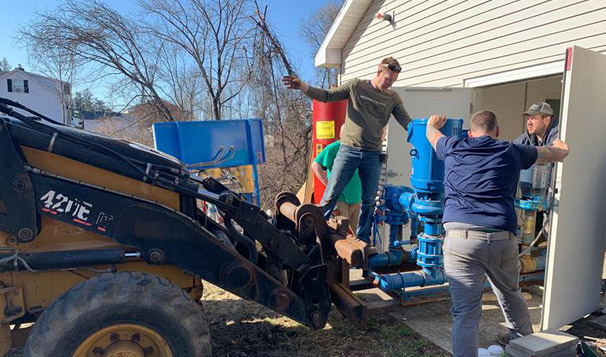 Wesskum Woods Road Water Booster Pump System Installation, Glove Cities New York